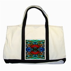 Colorful  Underwater Plants Pattern Two Tone Tote Bag