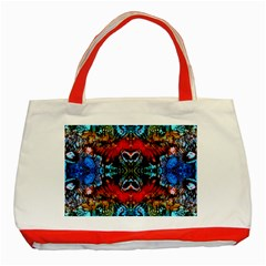 Colorful  Underwater Plants Pattern Classic Tote Bag (red) by Costasonlineshop