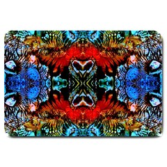 Colorful  Underwater Plants Pattern Large Doormat