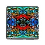 Colorful  Underwater Plants Pattern Memory Card Reader (Square) Front