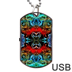 Colorful  Underwater Plants Pattern Dog Tag Usb Flash (two Sides)