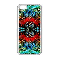 Colorful  Underwater Plants Pattern Apple Iphone 5c Seamless Case (white) by Costasonlineshop