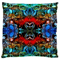 Colorful  Underwater Plants Pattern Large Flano Cushion Case (one Side) by Costasonlineshop