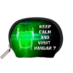 Keep Calm And Visit Hangar 7 Accessory Pouches (small)