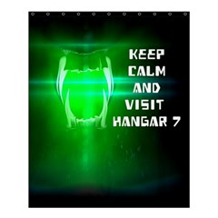 Keep Calm And Visit Hangar 7 Shower Curtain 60  X 72  (medium)  by RespawnLARPer