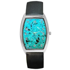 Aquamarine Collection Barrel Style Metal Watch by bighop