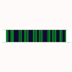 Dark Blue Green Striped Pattern Small Bar Mats by BrightVibesDesign