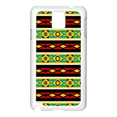 Rhombus Chains And Other Shapes 			samsung Galaxy Note 3 N9005 Case (white) by LalyLauraFLM