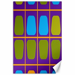 Shapes In Squares Pattern 			canvas 24  X 36  by LalyLauraFLM