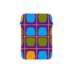 Shapes In Squares Pattern 			apple Ipad Mini Protective Soft Case by LalyLauraFLM