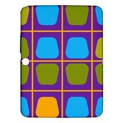 Shapes In Squares Pattern 			samsung Galaxy Tab 3 (10 1 ) P5200 Hardshell Case by LalyLauraFLM