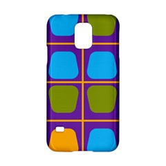 Shapes In Squares Pattern 			samsung Galaxy S5 Hardshell Case by LalyLauraFLM