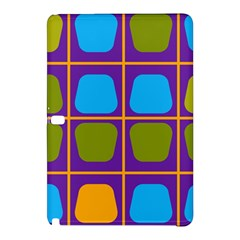 Shapes In Squares Pattern 			samsung Galaxy Tab Pro 12 2 Hardshell Case by LalyLauraFLM