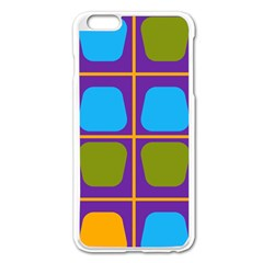 Shapes In Squares Pattern 			apple Iphone 6 Plus/6s Plus Enamel White Case by LalyLauraFLM