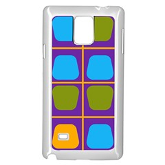 Shapes In Squares Pattern 			samsung Galaxy Note 4 Case (white) by LalyLauraFLM