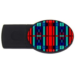 Stripes And Rectangles  			usb Flash Drive Oval (4 Gb) by LalyLauraFLM