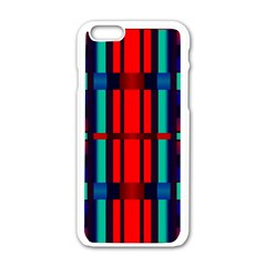 Stripes And Rectangles  			apple Iphone 6/6s White Enamel Case by LalyLauraFLM