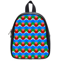Shapes Rows 			school Bag (small) by LalyLauraFLM