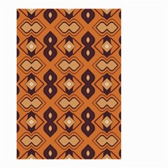 Brown Leaves Pattern Small Garden Flag by LalyLauraFLM
