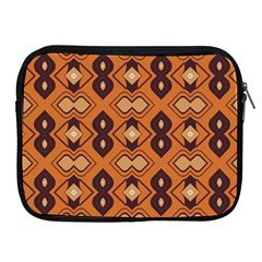 Brown Leaves Pattern 			apple Ipad 2/3/4 Zipper Case by LalyLauraFLM