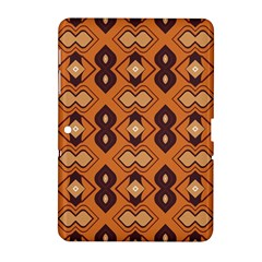 Brown Leaves Pattern 			samsung Galaxy Tab 2 (10 1 ) P5100 Hardshell Case by LalyLauraFLM