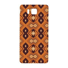 Brown Leaves Pattern 			samsung Galaxy Alpha Hardshell Back Case by LalyLauraFLM