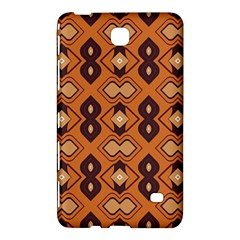 Brown Leaves Pattern 			samsung Galaxy Tab 4 (8 ) Hardshell Case by LalyLauraFLM