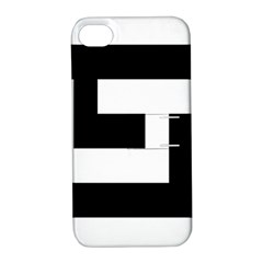 Black And White Apple Iphone 4/4s Hardshell Case With Stand by timelessartoncanvas