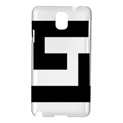 Black And White Samsung Galaxy Note 3 N9005 Hardshell Case by timelessartoncanvas