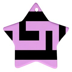 Black And Pink Ornament (star)