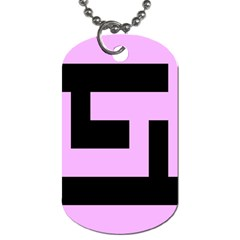 Black And Pink Dog Tag (one Side) by timelessartoncanvas