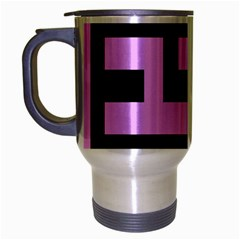 Black And Pink Travel Mug (silver Gray) by timelessartoncanvas