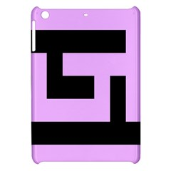 Black And Pink Apple Ipad Mini Hardshell Case by timelessartoncanvas
