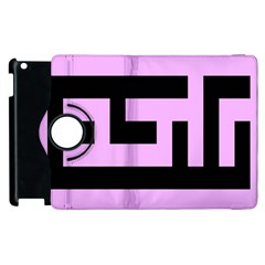 Black And Pink Apple Ipad 3/4 Flip 360 Case by timelessartoncanvas