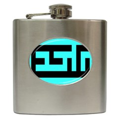 Black And Teal Hip Flask (6 Oz) by timelessartoncanvas