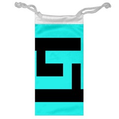 Black And Teal Jewelry Bags by timelessartoncanvas