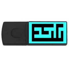Black And Teal Usb Flash Drive Rectangular (4 Gb)  by timelessartoncanvas