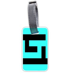 Black And Teal Luggage Tags (one Side)  by timelessartoncanvas