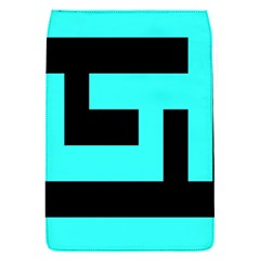 Black And Teal Flap Covers (s)  by timelessartoncanvas