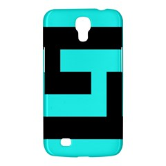 Black And Teal Samsung Galaxy Mega 6 3  I9200 Hardshell Case by timelessartoncanvas