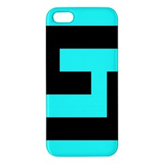 Black And Teal Iphone 5s/ Se Premium Hardshell Case by timelessartoncanvas