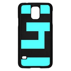 Black And Teal Samsung Galaxy S5 Case (black) by timelessartoncanvas