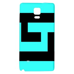 Black And Teal Galaxy Note 4 Back Case by timelessartoncanvas