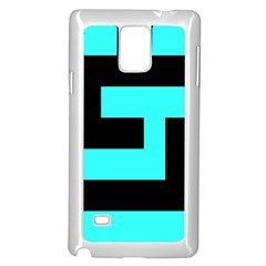 Black And Teal Samsung Galaxy Note 4 Case (white)