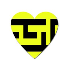 Black And Yellow Heart Magnet by timelessartoncanvas