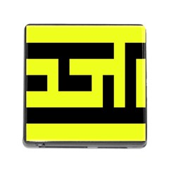 Black And Yellow Memory Card Reader (square) by timelessartoncanvas