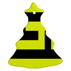 Black And Yellow Ornament (christmas Tree)