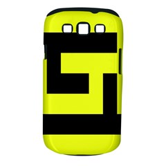 Black And Yellow Samsung Galaxy S Iii Classic Hardshell Case (pc+silicone) by timelessartoncanvas