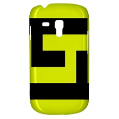 Black And Yellow Samsung Galaxy S3 Mini I8190 Hardshell Case by timelessartoncanvas