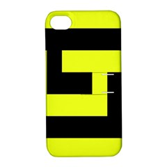 Black And Yellow Apple Iphone 4/4s Hardshell Case With Stand by timelessartoncanvas